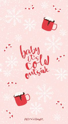 holiday wallpaper Free, Phone, Wallpaper, Freebie, Baby its Cold Outside Holiday Iphone Wallpaper, Wallpaper Für Desktop, Christmas Phone Wallpaper, Homescreen Wallpaper, Free Phone Wallpaper, Holiday Wallpaper, Aesthetic Iphone Wallpaper, Wallpaper Backgrounds, December Wallpaper