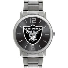Game Time Watches 'NFL All Around' Bracelet Watch, 35mm (£78) ❤ liked on Polyvore featuring jewelry, watches, oakland raiders, nfl watches, watch bracelet, quartz movement watches, dial watches and bracelet watch