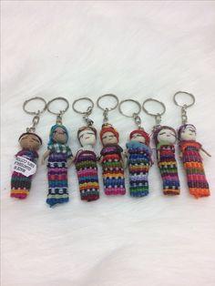 Guatemalaiset huolinukke avaimenperät.