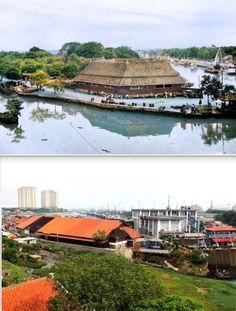 Het kanaal achter de visveiling 'Pasar Ikan' te Jakarta, Java - voor 1949, ,., Eks Pasar Ikan, Pelabuhan Sunda Kelapa, Jakarta, 2017 Jakarta, History, City, Historia, Cities
