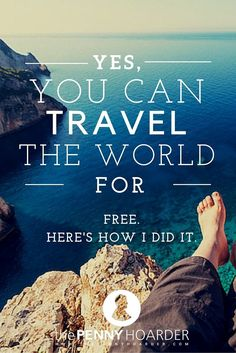 Wondering how to travel the world for free? After years of globetrotting I'm ready to share a few of my secrets… - The Penny Hoarder www. Travel The World For Free, Free Travel, Cheap Travel, Budget Travel, Travel Around The World, Travel Jobs, Travel Rewards, Travel Hacks, Travel Money