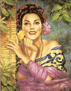 She'd heard of gringos who liked Mexican women, that was not such a stretch. Mexican women were some of the most beautiful in all the land. Mexican Artwork, Mexican Paintings, Mexican Folk Art, Mexican Heritage, Mexican Style, Art Latino, Art Chicano, Jorge Gonzalez, Mexico Art