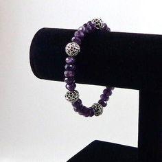 Amethyst Bracelet by angelovajewelry on Etsy