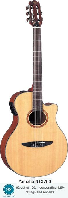 RL       The highest rated nylon string guitar under $500 is the Yamaha NTX700 Acoustic-Electric.