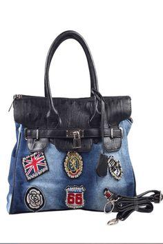 Vêtement - Jupe, jupe courte, jupe en jean, jupe tailleur 2012 - 2013 - Sac bandouliere femme - Jean Cloth Three-use Bag