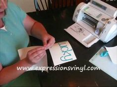 http://www.expressionsvinyl.com/pages/videos How to cut, weed, use transfer tape, and apply your completed Cricut vinyl project from expressionsvinyl