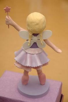 the cupcake gallery - kids' birthday - fairy ballerina cake topper figurine