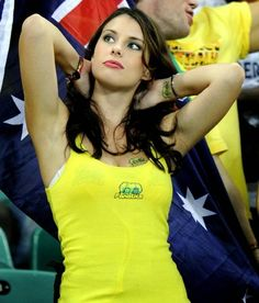 World Cup Brazil sexy hot girls football fan, beautiful woman supporter of the world. Pretty amateur girls, pics and photos Australia Hot Football Fans, Football Girls, Girls Soccer, Soccer Fans, Sexy Girl, Sexy Hot Girls, Hot Fan, Sport Girl, Fifa