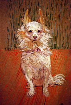 Philadelphia Museum of Art - Follette by Henri de Toulouse-Lautrec Henri De Toulouse-lautrec, Renoir, Animal Paintings, Animal Drawings, Philadelphia Museum Of Art, Dog Portraits, French Art, Monet, Impressionist