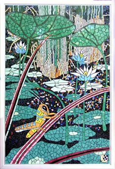 Grasshopper by Man In The Moon Poleng Mosaics