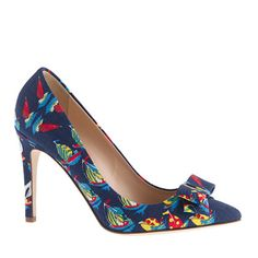 Collection bow pumps in Ratti Regatta print - pumps & heels - Women's shoes - J.Crew