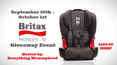 Enter to #Win The Britax Pioneer 70 Car Seat #Giveaway - Jenn's Blah Blah Blog - Travel, Recipes, Reviews, Giveaways and Sweepstakes