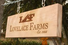Personalized Engraved Reclaimed Wood Barn Sign, Man Cave, Hunting Camp Sign. $100.00, via Etsy.
