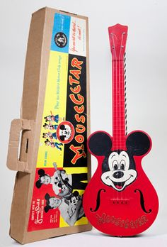 Concert ukulele by Oscar Schmidt, a division of U.S. Music Corp., Mundelein, Illinois, manufactured in China, 2005. Mousekulele, commemorating the 50th Anniversary of the Mickey Mouse Club. Limited Edition of 1,000. Gift of Geoffrey Rezek.