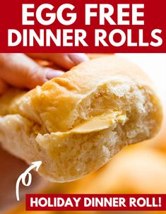 Egg Free Dinner Rolls are a must make for bread lovers. Light, fluffy, soft dinner rolls you can make and serve up. The ultimate bread for the holidays, a weeknight dinner and more. #bread #flour #soft #fluffy #buttery #eggfree #dinnerrolls #rolls