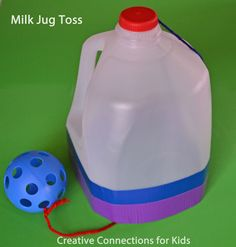 milk jug toss Creative Connections for Kids