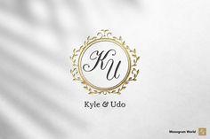 Wedding Monogram KU by Monogram World on @creativemarket Monogram Wedding, Wedding Monograms, Best Logo Design, Logo Design Template, Cool Logo, Best Logo