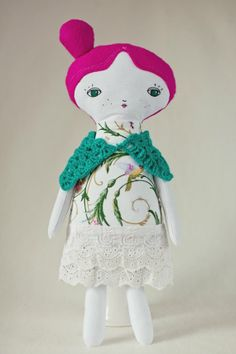 Handmade doll  beautiful art rag doll by CodrutaM on Etsy, $45.00
