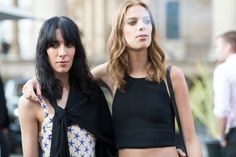 #LexiBoling #JamieBochert ELLE.com photographer Tyler Joe captures the chicest street style moments from Paris Couture Week.