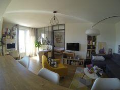 Appartement avec verrière en acier