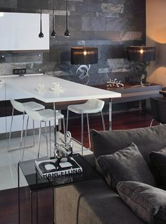 Homes Interior Design » Blog Archive Modern Apartment Interior by Geometrix - Modern Homes Interior Design  Like the dining space in kitchen