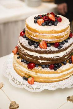 """Darf ich vorstellen: unsere Hochzeitstorte """"Naked Cake"""""""