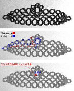 Bracelet [Tatting] flower motif how to make [blade]   knitting   knitting, handicrafts, sewing   Atelier