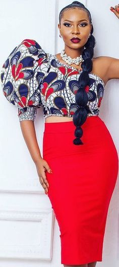 Stylish african print ankara top with single sleeve inspiration styles and designs, trendy ankara crop top with single sleeve, stylish and classy ankara peplum top styles African Dresses For Women, African Print Dresses, African Attire, African Wear, African Fashion Dresses, African Women, African Prints, African Style, African Fashion Designers