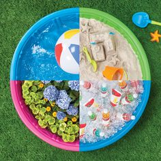 From sand-castlin' to flower planting, talk about kiddie pool potential.