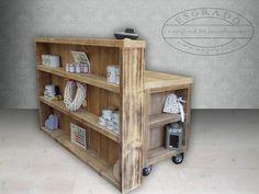 Steigerhout Toonbank Leuk idee voor steigerhouten winkelinrichting