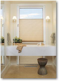 All Hunter Douglas Duette honeycomb shades feature a smooth expanse of soft fabric with no holes, seams or visible cords. The distinctive honeycomb design provides superior energy efficiency. The product also features color-coordinated hardware with a proven cordlock design that releases easily and holds reliably.