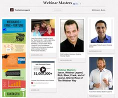 Webinar Masters, Webinar Legends, Live Encore Webinars, Automated Webinars, It's The Webinar Way! http://thewebinarway.com