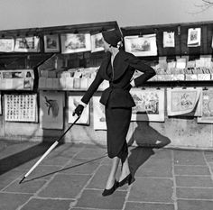 Model in Dior, Paris 1950: Willy Maywald