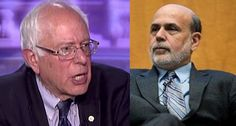 Book-hawking Bernanke thinks everyone forgot about that time Bernie Sanders kicked his ass