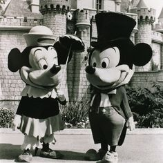 Mickey and Minnie Mouse in 1961