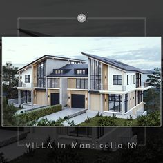 3d Visualization, Villa, Exterior, Mansions, House Styles, Model, Home Decor, Decoration Home, Manor Houses