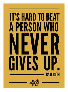 Babe Ruth, #sports #quotes - TheBlondeSide.com