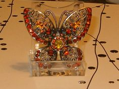 Vintage+Jewelry+Butterfly+Pin+Gorgeous+Orange+and+by+softlychic,+$21.99