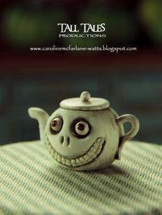 Grinny Teapot by Caroline McFarlane-Watts of Pixie Dust - Miniature Models