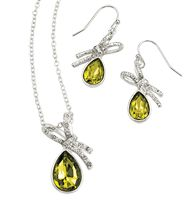 Embellished Ribbon Necklace and Earring Gift Set $12.99 www.youravon.com/pamelataylor