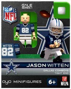 Amazon.com: Jason Witten NFL Oyo Mini Figure Lego Compatible Dallas Cowboys: Sports & Outdoors