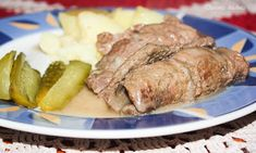 """polish dish with beef """"zrazy"""" Steak, Food And Drink, Beef, Dishes, Kitchen, Polish, Kitchens, Meat, Cooking"""