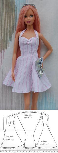 Nenca - zberateľské barbie a tvorba  Letné šaty Monster High Kleidung 06c45eedaf7