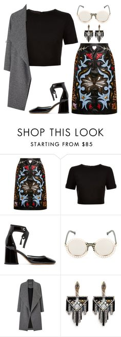 """""""Untitled #2029"""" by lauraafreedom ❤ liked on Polyvore featuring Mary Katrantzou, Ted Baker, Marc Jacobs, Preen, Miss Selfridge and Lulu Frost"""