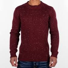 MAROON Venue Flacked Ribbed Long Sleeve Crew Neck Jumper  _____________________________ Reposted by Dr. Veronica Lee, DNP (Depew/Buffalo, NY, US)