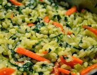 Cantinho Vegetariano: Arroz com Espinafre e Cenoura (vegana)