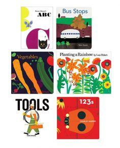 Bright and bold kids books.
