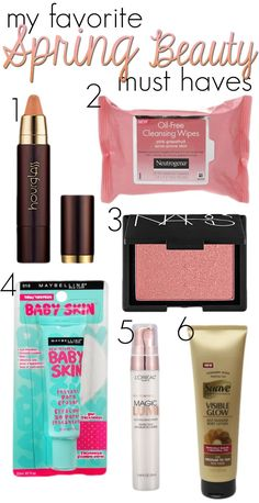 Spring Beauty Products  via www.hairsprayandhighheels.com