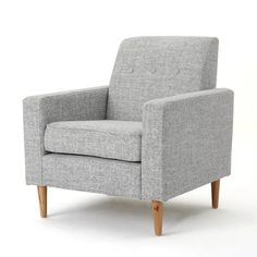 This Christopher Knight Home Sawyer Mid-Century Modern Club Chair is the perfect finishing note to your living room. Elegant and supremely comfortable all at once, this piece is crafted according to the highest standards. Living Room Modern, Living Room Chairs, Living Rooms, Apartment Living, Mid Century Modern Fabric, Blue Accent Chairs, Chair And Ottoman Set, Modern Chairs, Contemporary Chairs
