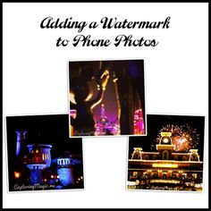 Great info (with video) on how to create and use a watermark on iPhone and Android photos